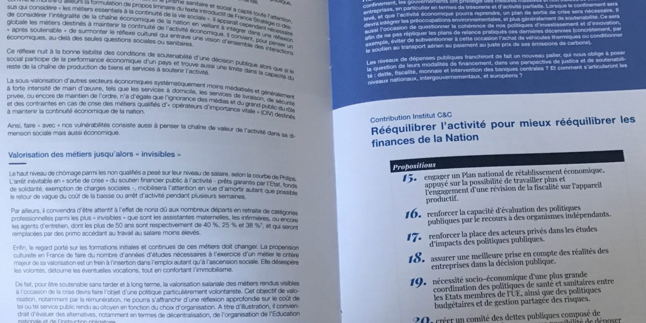 Post-Covid-19 : l'Institut Chiffres & Citoyenneté transmet 27 propositions à France Stratégie